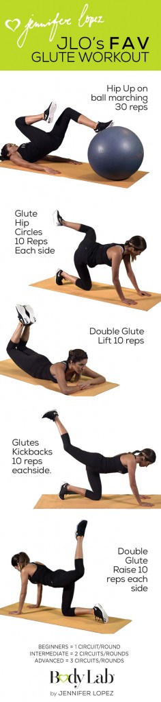 Jlo fav glute workout